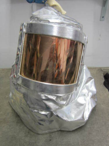 GLOBE USA Aluminized Heat Proximity Firefighter Hood Helmet Mask Filter