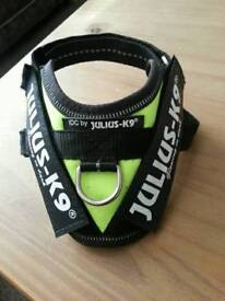 Julius-k9 idc dog puppy power harness neon green size baby1