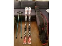 ATOMIC REDSTER PRO RACING SKIS 165CM WITH 2X POLES & CARRY BAG IN GREAT CONDITION!