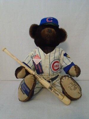 "1969 Ernie Banks Signed ""Mr Cub"" Chicago Cubs Cooperstown Bear L/E 220/1000 JSA"