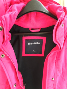 Abercombrie  girl pink parka size XL