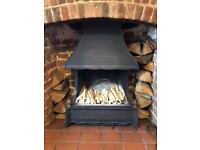 Rembrant Fireplace, in excellent condition with new fireback (fitted June 2017)