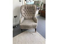 Vintage Parker Knoll Buttoned Chair