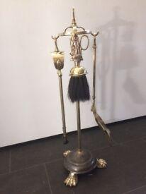 Brass fireside companion set