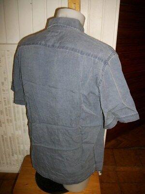 Chemise manches courtes leger lyocel bleu délavé mise au green taille 40 ou m