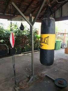 3 way boxing stand with heavy punching  bag