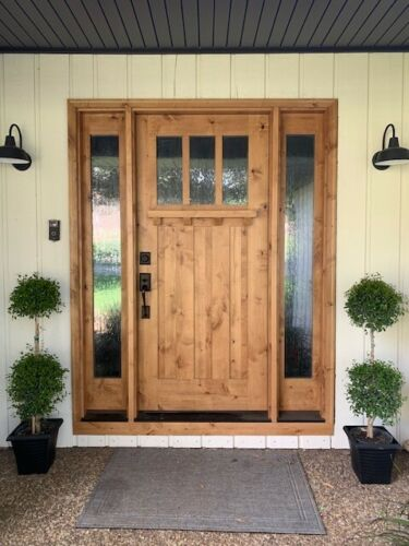 ALPINE KNOTTY ALDER SHAKER CRAFTSMAN ENRTY DOOR  UNIT