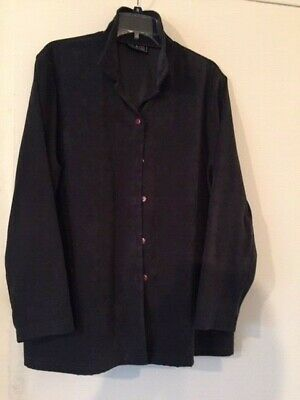 WOMENS' CHARCOAL GRAY MICROFIBER OUTER SHIRT - XL ()