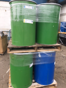 (45) Gallon Steel Barrels, Like New for only $20.00 a piece