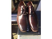 DUNE OF LONDON BROWN LEATHER SHOES