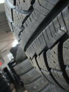 215/65r16 GISLAVED SNOW TIRES ON STEEL RIMS W/ HUBCAPS