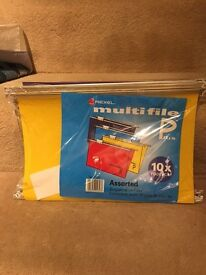 Free! Rexel brand 10 Foolscap Hanging folders for filing Cabinet.