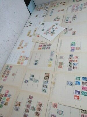 Nystamps Mid East & area large old stamp collection Album page