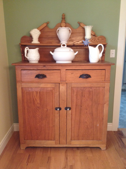 Description. This oak jam cupboard ... - Antique Jam Cupboard Hutches & Display Cabinets Stratford Kijiji