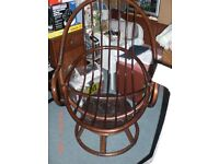 Rocking, Swivel, Cane Chair, looks new.