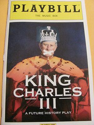 KING CHARLES III Playbill Broadway Play New York Musical III 3 London