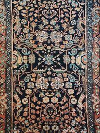 AMAYA - Antique Traditional Vintage Persian Rug 200 x 110CM 6.6 x 3.6 FT Handwoven Carpet