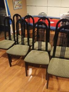 8 Black Dining Chairs