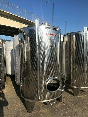 845 Gallon Stainless Steel Jacketed Tank - Wine Distillery Brewery