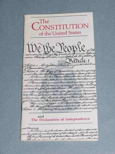 Pocket Constitution United States Declaration Independence Bicentennial 1991 New