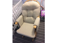 Hauck nursing glider chair and stool