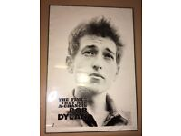LARGE FRAMED BOB DYLAN TIMES THEY ARE A'CHANGIN' POSTER