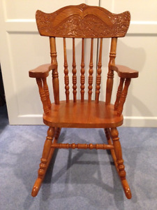Solid wood children's rocking chair