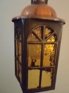 small copper & brass Coach lamp