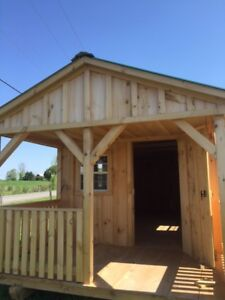 Great priced 10 x24 Amish Shed with 6 Ft veranda