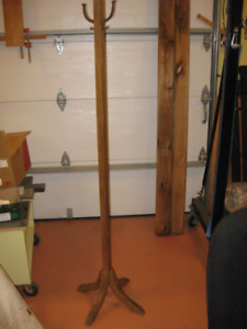 Antique Coat Rack Solid Hardwood