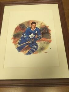 Toronto Maple Leafs  Tim Horton Canada Post Framed Lithograph