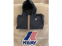 K-WAY Claude Boys Hooded Jacket: 14Y in Navy Blue. Excellent Condition. Cost £59, accept £23 ono