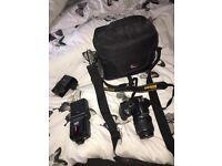 Nikon D3200, perfect condition. Kit lens, flash + 16GB memory card