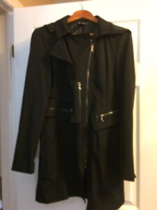 Kenneth Cole, Black Coat, Edgy yet Classic style.