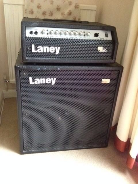 Laney Bass Head and 2 by 12 Cabinet (240 W)