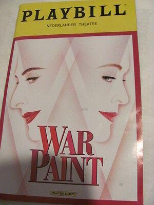 WAR PAINT Playbill Broadway Musical PATTI LUPONE CHRISTINE EBERSOL new york play