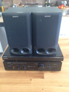 NIKKO Amplifier, Sony DVD player and speakers