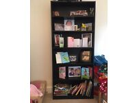 Excellent Condition: Black Bookshelft Tall - (£10)