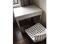 IKEA WHITE DESK AND OFFICE CHAIR. AS NEW CONDITION. £40