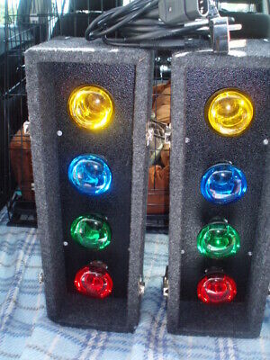 SOUNDLAB DISCO LIGHTS - AUTO 4s (8 x BULB DISCO LIGHTS)- BUILT-IN-CONTROLLER-