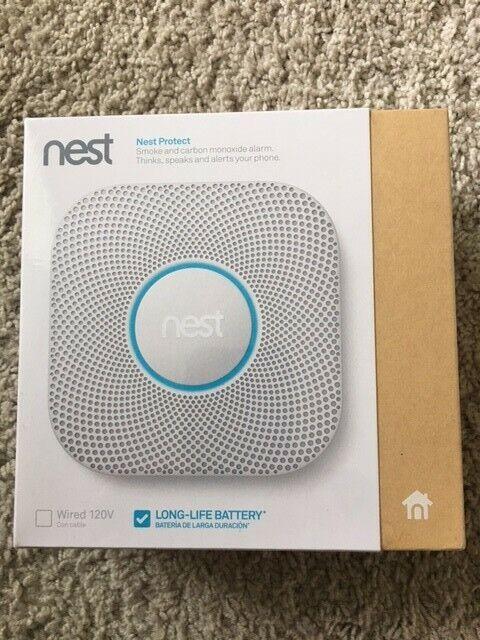 Nest Protect Smoke & Carbon Monoxide Alarm 2nd Gen S3000BWES New In Shrink Wrap