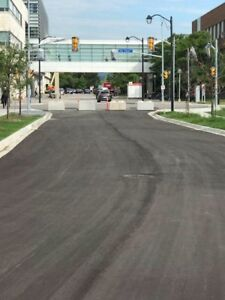 Concrete / cement barrier blocks for roadways and parking lots