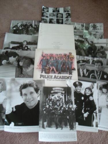 POLICE ACADEMY Original 1984 Press Kit w/Stills  Steve Guttenberg & Kim Cattrall