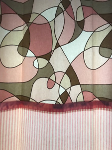 Custom Beige/Pink/White Curtains/Draperies