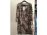 Animal Print with Gold Sequins Top by Yours * Size 22/24* New with Tags * £10
