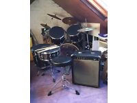 Mapex Drum Kit & Fender Frontman 60B Amp for Sale. Collection only