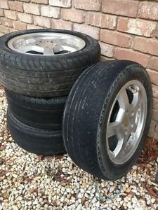 Four 4 rims with tyres suit Toyota, Ford Scoresby Knox Area Preview