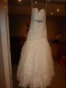 Ivory/Silver Exclusive Bride by A.C.E. WEDDING DRESS