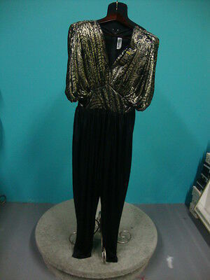 4 Matching Halloween Costumes (80's Gold and Black Jumpsuit Vintage Costume sz 4 Includes Matching)