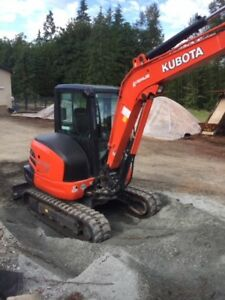 2017 Kubota KX040-4G 4.5T Rubber excavator for sale